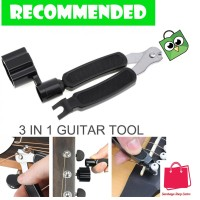 Guitar Tools 3 in 1 String Winder + Bridge Pins Puller + String Cut