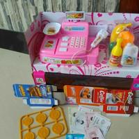 TERMURAH Mainan Anak Perempuan Mesin Kasir Kasiran Mini Cash Register