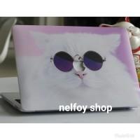 Macbook New Air 13 Mac Book Cat Case Cover Hard Soft Casing Skin