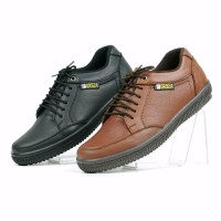 Sepatu Pria Casual Sneakers Kulit Kets Santai Original Fordza D907