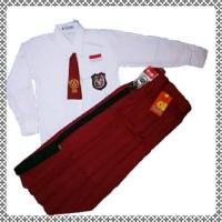set seragam sekolah sd perempuan lengan panjang rok panjang lengkap