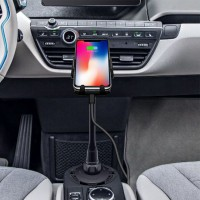 PREMIUM Car Qi Fast Wireless Charger Gooseneck Cup Holder Air Vent