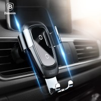 PREMIUM Baseus Qi Wireless Charger Car Holder for iPhone X 8 Samsung
