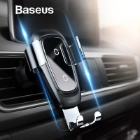 PREMIUM Baseus Qi Wireless Charger Car Holder for iPhone X Samsung