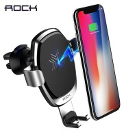 PREMIUM ROCK Metal Gravity Car Holder Wireless Charger for iPhone XS