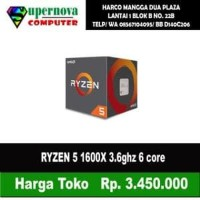 AMD Ryzen 5 1600X 3.6Ghz Up To 4.0Ghz Cache 16MB 95W AM4