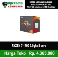 AMD Ryzen 7 1700 3.0Ghz Up To 3.7Ghz Cache 16MB 65W AM4