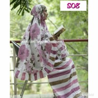 Mukena Shabby bahan katun, nyaman dipakai & banyak pilihan motifnya