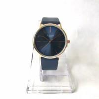 Jam Tangan Pria Slim Casual Navy Blue Tiger Watch (free watch box & ba