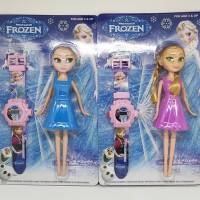 Jam Tangan Anak Plus Mainan Robot Motif Frozen Anna Elsa