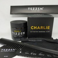 POMADE TEZZEN CHARLIE ACTIVATED CHARCOAL CLAY MATTE FREE SISIR CARBON
