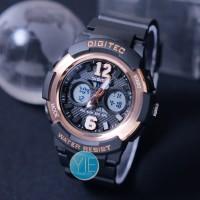 Jam Tangan Wanita Digitec DG 2096 (DG-2096-T) Dual Time - Hitam