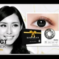 Koko Black Softlens Warna Hitam by Exoticon big eyes
