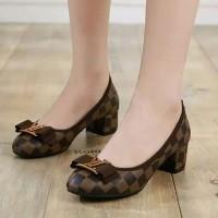 sepatu pantopel wanita shoes LV cewek casual ud 05
