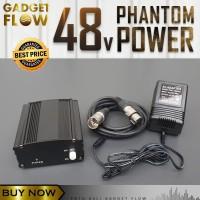 Phantom Power Supply 48V untuk Microphone Condenser 1 Channel