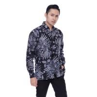 Kemeja Batik Pria Lengan Panjang Manggar Warna