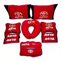 Bantal mobil Toyota Agya TRD Sportivo merah Aksesoris interior mobil