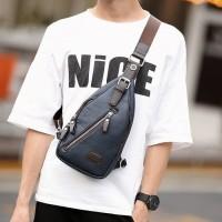 Tas Selempang Kulit Pria / Sling bag / Body Bag (BLUE)
