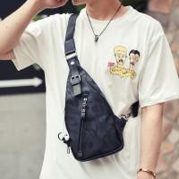 Sling bag - Chest bag - Body bag pria (BLACK CAMMO)