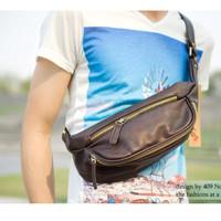 Tas Bahu / Sling Bag / Chest Bag Pria (Brown)