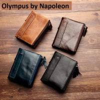 Dompet kulit sapi asli pria - RFID PROTECTED (OLYMPUS)