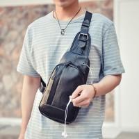 Sling Bag Pria WESTIN BLACK