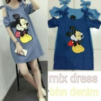 New Produk Mix dress RO dress wanita superdenim biru dan biru muda
