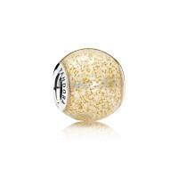 Charm PANDORA ORIGINAL Golden Glitter Ball