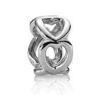 Charm PANDORA ORIGINAL Open Heart Silver Spacer