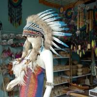 Warbonnet/topi indian/asesoris kepala bulu ayam/topi pesta/carnaval