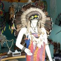 warbonnet/topi indian/asesoris kepala bulu kalkun/topi pesta/carnaval
