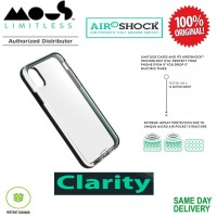 iPhone XS / X Case Mous Clarity Cover Black Frame