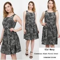 Old navy Black floral dress brand murah