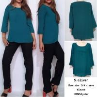 S.oliver 3/4 Sleeve green Blouse brand murah