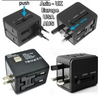Travel Adaptor Universal Plug EU UK & USB Port / All in One Adaptor