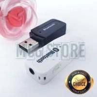 USB Bluetooth Receiver Wireless + Aux Stereo untuk Speaker Musik Music