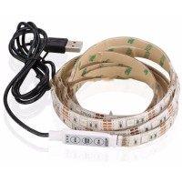 Termurah Mood Light Led Strip 5050 Rgb With Usb Controller-Putih-2