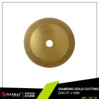 Perkakas Pisau Potong Batu / Diamond Gold Cutting Disc 8 Murah Nankai