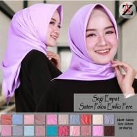 Jilbab Segiempat Satin Azara - hijab segiempat sutera satin azara