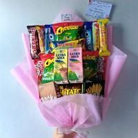 Snack Bouquet / Bucket Buket Bunga Snack Hadiah Kado Sidang Skripsi