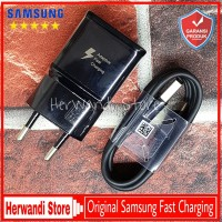 Charger Samsung Note 8 Note 9 Original New Fast Charging Usb Type C - Hitam