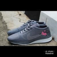 Sepatu Wanita Kasual Nike Flyknite Flower Grade Original