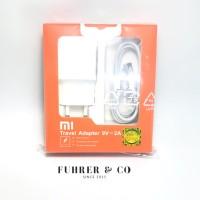 Charger Xiaomi Redmi 4a 5a Note 3 4 5 2a Fast Charger Original Garansi - Putih
