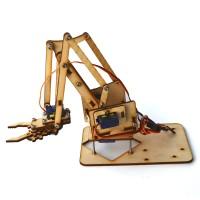 4DOF Wood Arm Mechanical Robot Arm Kit with SG90 Servo for