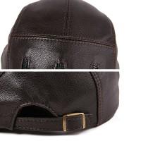 L/ XL/2XL Middle-aged Leather Windproof Painter Beret Hat