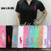 Baju wanita Kaos polo Hush puppies Burberry cewek