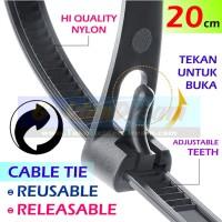 Cable Tie Reusable Releasable Bisa Pakai Ulang Buka Pasang Kabel Ties
