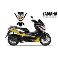 DECAL STRIPING MOTOR YAMAHA NMAX YELLOW SHARK