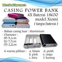 Casing Aluminium Power Bank 4 Slots Battery 18650 XIAOMI Tanpa Baterai