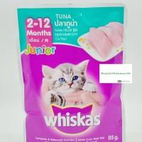 Cat Food Whiskas Sachet Junior Rasa Tuna 85g